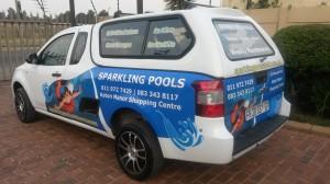 Sparkling Pools vehicle branding